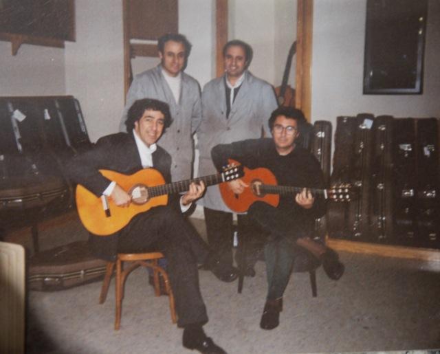 Juan y Enrique Melchor con Felipe y Mariano Conde